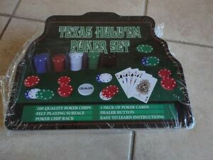 Brand new sealed Texas Hold'em Poker Set 200 pieces