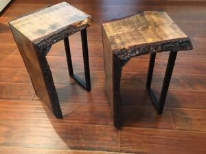 Pair of Live Edge End Tables