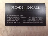 Decade to Decade....Furniture with Experience