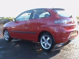 SEAT IBIZA 1.4 SPORT 3 DR RED 1 YRS MOT,NEW F/R BRAKE DISCS/PADS FITTED CLICK ON VIDEO LINK