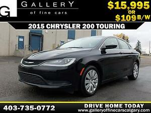 2015 Chrysler 200 Touring $109 bi-weekly APPLY NOW DRIVE NOW