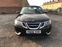 Saab 9-3 2.0 Turbo Aero- Black- 2008- Convertible- Low Mileage