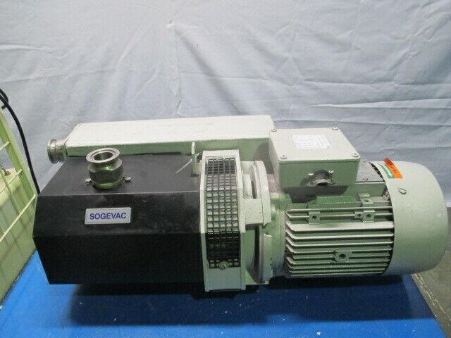 Leybold SV65.95007 SOGEVAC Vacuum Pump, Brook Hansen 712.18.208 Motor, 453527