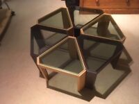 6 glass topped coffee tables