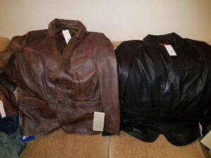 New in packaging 2 new ITALIAN HELium lamb skinleather jackets London Ontario image 4