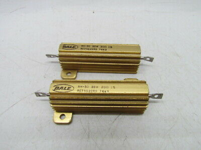 RH-100 75W misc 30W Dale Power Resistors Numerous Types Brass Cases RH-250 120W