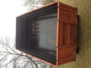 1967 GMC 3-ton grain truck box and hoist for sale.