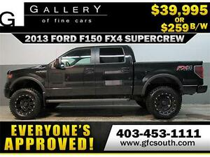 2013 FORD F-150 FX4 LIFTED  *EVERYONE APPROVED* $0 DOWN $249/BW
