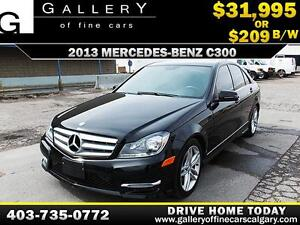 2013 Mercedes C300 4Matic $209 bi-weekly APPLY NOW DRIVE NOW