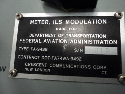 Crescent Type Fa-9438 Model 530 Ils Modulation Meter Instrument Landing System