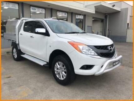 2013 Mazda BT-50 MY13 XTR (4x2) White 6 Speed Manual Dual Cab Utility