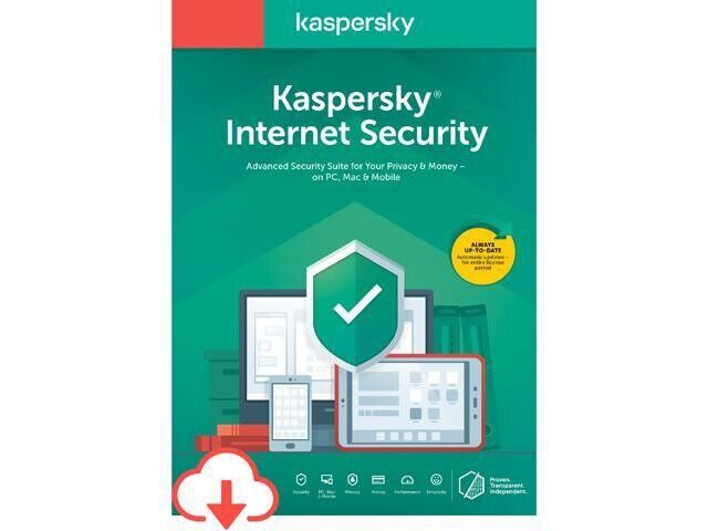 Kaspersky Internet Security - 5 Devices/1 Year (Activation Code sent via email)