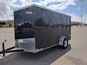 2014 Pace American 6 x 12 Enclosed Trailer with Rear Ramp