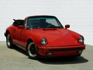 1986 Porsche 911 Carrera Red 5 Speed Manual Cabriolet Moorooka Brisbane South West Preview