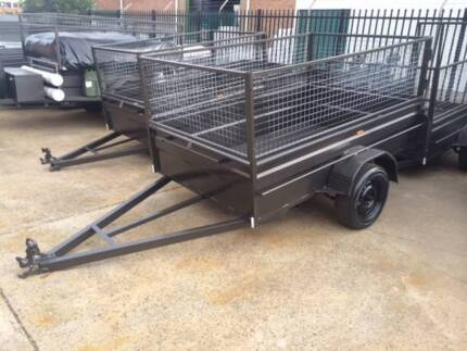 8X5 High Sides Cage Box Trailer Incl Rego Done ON SITE !