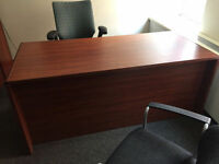 very nice office desk with file drawer & 4 other drawer's
