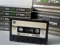 TDK SA SUPER AVILYN CASSETTE TAPES 1979 TYPE 2 CHROME.