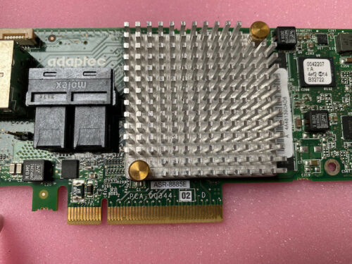 ADAPTEC ASR-8885E SERIES 8 16-PORT 12GB/S 512MB CACHE Raid Controller