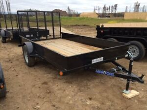 REDUCED!! 2017 SINGLE AXLE  TRAILER 10 FT W/GATE (3500LBS GVW)