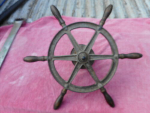 Old Small Boat Ships Wheel
