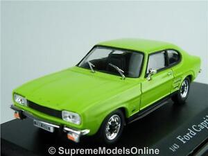 FORD CAPRI MK1 CAR MODEL 1/43 SIZE LIME GLAZE 2 DOOR 70'S SPORTS VERSION R015{:}