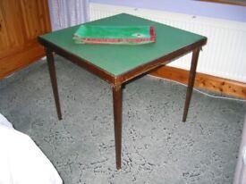 Bridge table and cloth