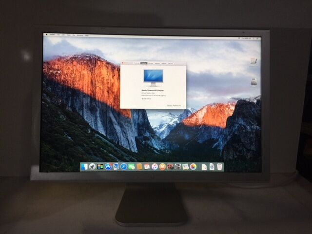 """Apple Cinema A1082 23"""" Widescreen TFT LCD Monitor NO AC Adapter"""