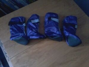 TOP PAWS REFLECTIVE BOOTIES LARGE PURPLE