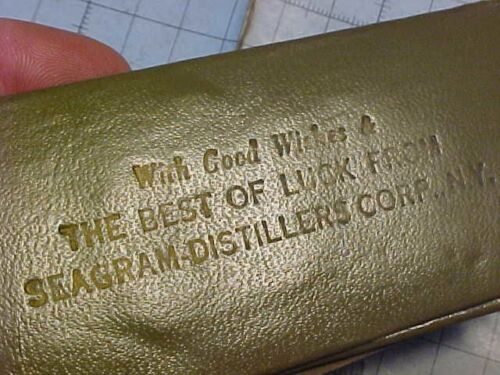 ORIGINAL WWII US ARMY SEWING KIT - GOOD LUCK FROM SEAGRAM DISTILLERS CORP