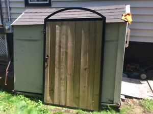 Patio gate (barn style) TRADE for Lawnmowers
