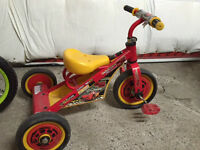 Tricycle with Cars Theme, helmet included