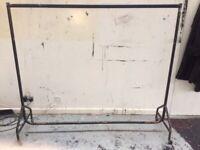 Vintage metal rail on wheels demountable