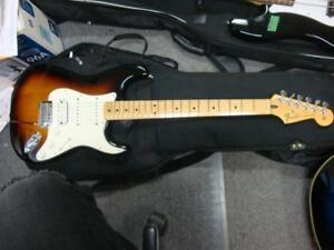 Fender Standard Stratocaster mexican made Maple Neck in Brown Sunburst with Softshell case