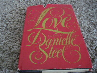 Danielle Steel Love Poems Book  1981  Hardcover With Dust Jacket Bce
