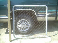 wire storm fence gate