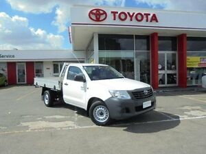 2013 Toyota Hilux TGN16R MY12 Workmate Glacier White 4 Speed Automatic Cab Chassis Belmore Canterbury Area Preview