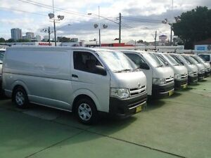 2013 Toyota Hiace KDH201R MY12 Upgrade LWB Silver 4 Speed Automatic Van Canada Bay Canada Bay Area Preview