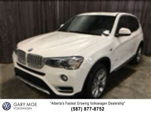 2017 BMW X3 SAVE $5000!! Nav, Sunroof, Heated Seats, Back Up C