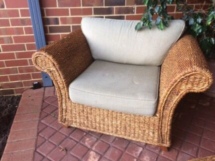 Cane x 2 Single Armchairs
