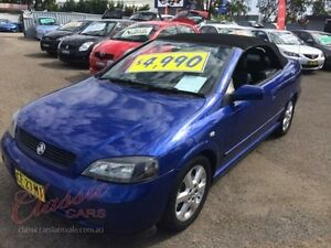 2001 Holden Astra TS Convertible Blue 4 Speed Automatic Convertible Lansvale Liverpool Area Preview