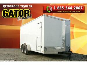 REMORQUE FERMÉE 7X14TA 7' V-NOSE ENCLOSED TRAILER CARGO