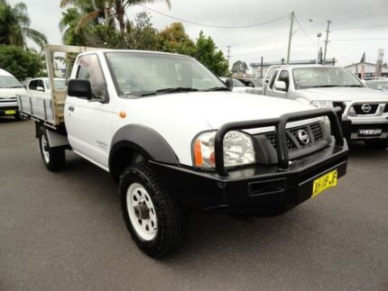 2005 Nissan Navara D22 MY2003 DX White 5 Speed Manual Cab Chassis