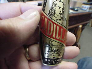 Cadillac Chicago Cycle Supply Bike Badge Bicycle Emblem etched brass