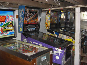 Looking for pinball machines.