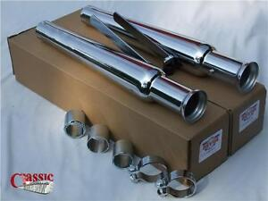 Tulips silencers pair, American style for custom, chopper bobber rebuilds