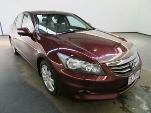 2012 Honda Accord 50 MY12 V6-L Burgundy 5 Speed Automatic Sedan Albion Brimbank Area Preview