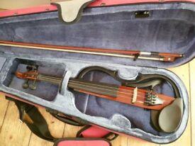 Yamaha electric violin with accessories, original manual, Kun shoulder rest etc- superb!