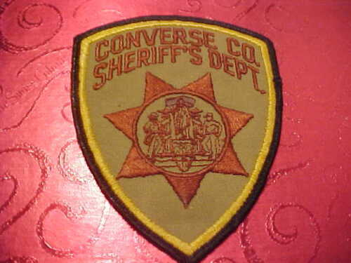 CONVERSE COUNTY WYOMING  POLICE PATCH SHOULDER SIZE UNUSED TYPE 2
