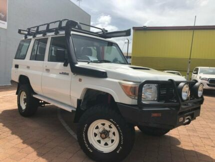 2009 Toyota Landcruiser VDJ76R Workmate French Vanilla 5 Speed Manual Wagon Stuart Park Darwin City Preview
