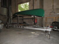 canoe trailer will take 3 open canoes & up to 5 kayaks